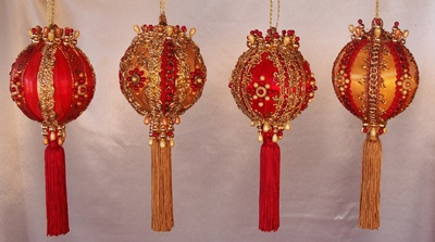 Red and Gold Set of Four - New in 2014!