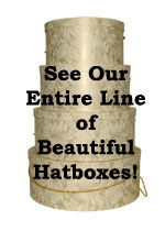 Gorgeous designs of Nested Sets of Hatboxes